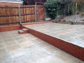 New fencing and split patio in Kings Heath