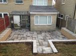 patio and split face walling