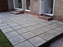 Courtyard patio and steps in Edgbaston.
