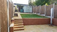 Retaining walls, steps and patio in Druids Heath.