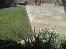 shaped multi coloured 18 inch rivan patio in hollywood.