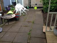 Before shot of garden in Moseley.