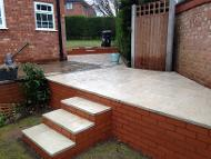extended patios and walls in Bournville