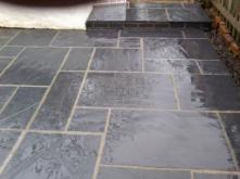 natural slate patio in bournville.