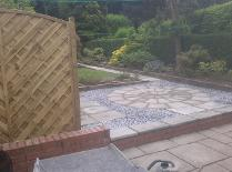 natural circle and slate with ornate panel,