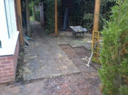 Transforming garden in Monkspath.