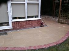 cotswald rivan slabs and block paving border in Shirley.
