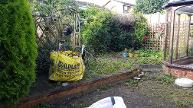Overgrown garden in Kings Norton.
